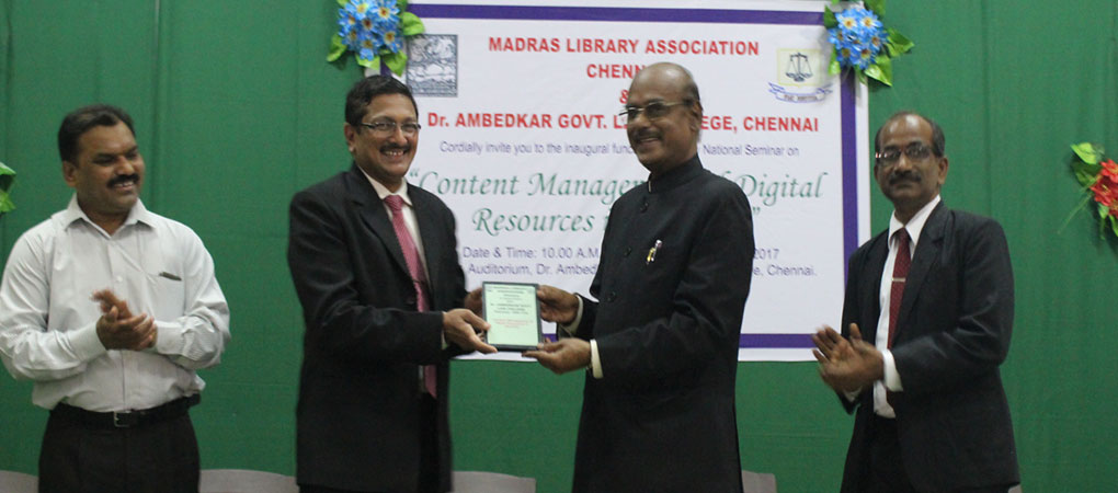 DLS Honouring Former VC Vishwanathan of Anna University.