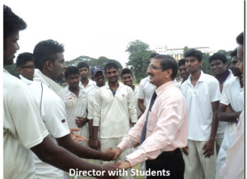 Director with students