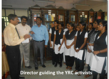 Director guiding the YRC activists