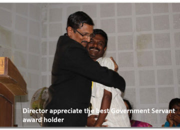 Director appreciate the best Government Servant award holder