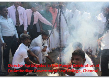 Director participated in the pongal celebration at Dr.Ambedkar Government Law college, Chennai
