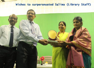 Wishes to Superannuated Tmt.Salima (Library staff)