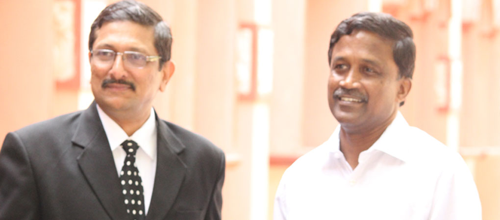 Director with Mr.S.Poovalingam, Law Secretary on the occassion o f LL.M Counselling.